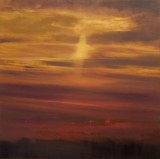 'Sunset 2008 no.1' 71x71cm  oil on linen