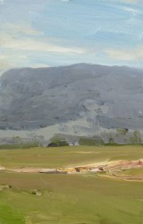 'Sketch (Vacy) no.3 2006' 28x18cm  oil on board