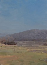 'Sketch (Mt. George) no.5 2007' 25x18cm  oil on board